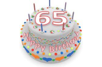 Смс с юбилеем 65 лет женщине